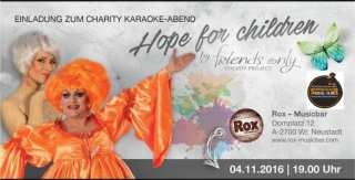 Bild zu ROX & FRIENDS ONLY – TRAVESTIE UND KARAOKE FÜR HOPE FOR CHILDREN!